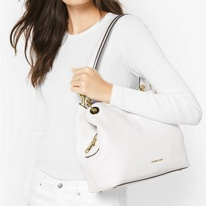 Michael Kors Bags - MICHAEL KORS Raven Large Leather Shoulder Bag